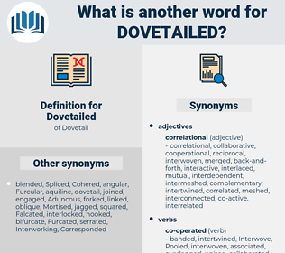 Dovetailed, synonym Dovetailed, another word for Dovetailed, words like Dovetailed, thesaurus Dovetailed