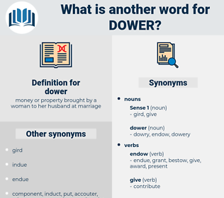 dower, synonym dower, another word for dower, words like dower, thesaurus dower