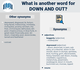 down-and-out, synonym down-and-out, another word for down-and-out, words like down-and-out, thesaurus down-and-out