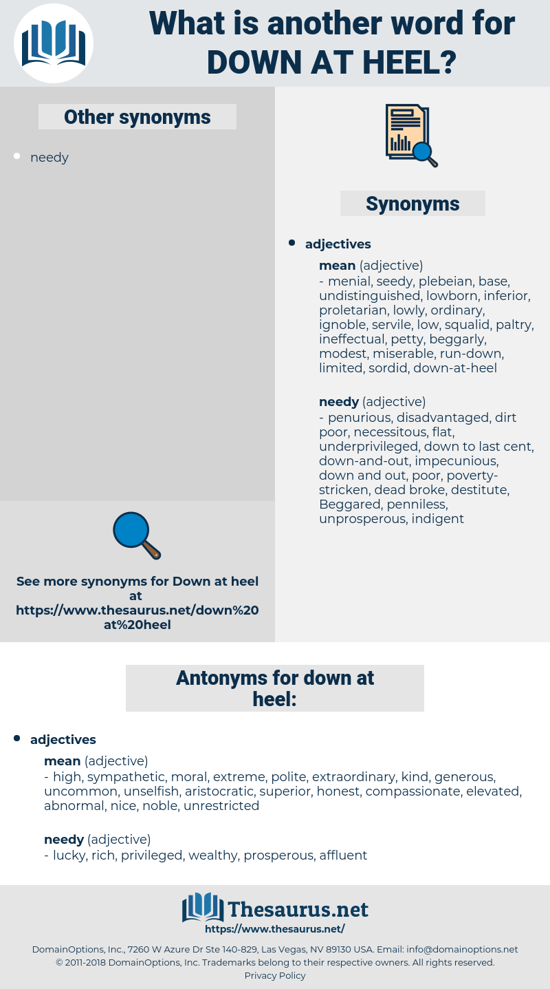 down-at-heel, synonym down-at-heel, another word for down-at-heel, words like down-at-heel, thesaurus down-at-heel