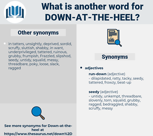 down-at-the-heel, synonym down-at-the-heel, another word for down-at-the-heel, words like down-at-the-heel, thesaurus down-at-the-heel