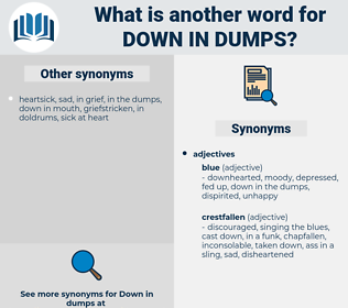 down in dumps, synonym down in dumps, another word for down in dumps, words like down in dumps, thesaurus down in dumps