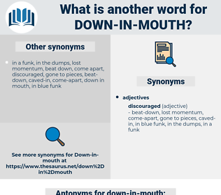 down in mouth, synonym down in mouth, another word for down in mouth, words like down in mouth, thesaurus down in mouth