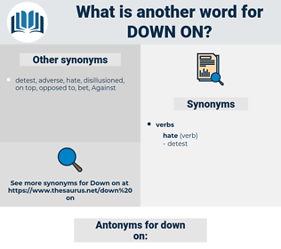 down on, synonym down on, another word for down on, words like down on, thesaurus down on