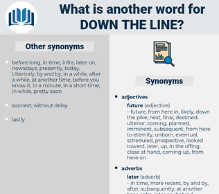 down the line, synonym down the line, another word for down the line, words like down the line, thesaurus down the line