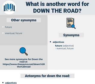 down the road, synonym down the road, another word for down the road, words like down the road, thesaurus down the road
