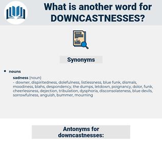 downcastnesses, synonym downcastnesses, another word for downcastnesses, words like downcastnesses, thesaurus downcastnesses