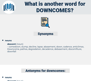 downcomes, synonym downcomes, another word for downcomes, words like downcomes, thesaurus downcomes