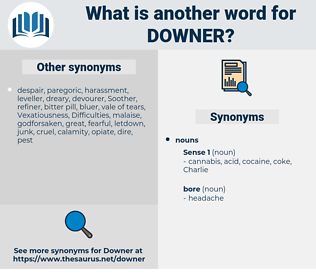 downer, synonym downer, another word for downer, words like downer, thesaurus downer