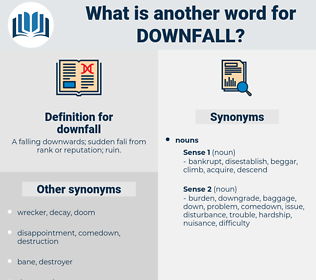 downfall, synonym downfall, another word for downfall, words like downfall, thesaurus downfall