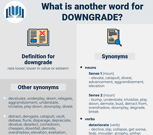 downgrade, synonym downgrade, another word for downgrade, words like downgrade, thesaurus downgrade
