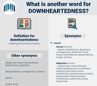 downheartedness, synonym downheartedness, another word for downheartedness, words like downheartedness, thesaurus downheartedness