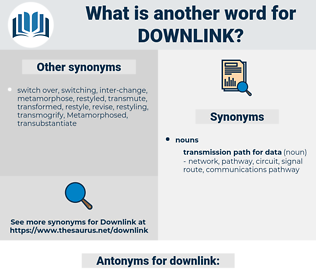 downlink, synonym downlink, another word for downlink, words like downlink, thesaurus downlink