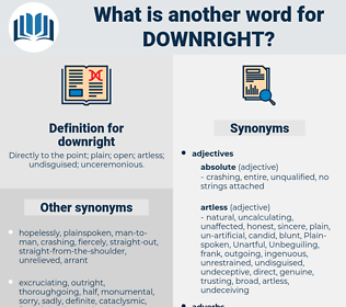 downright, synonym downright, another word for downright, words like downright, thesaurus downright