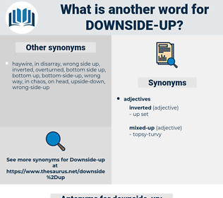 downside-up, synonym downside-up, another word for downside-up, words like downside-up, thesaurus downside-up