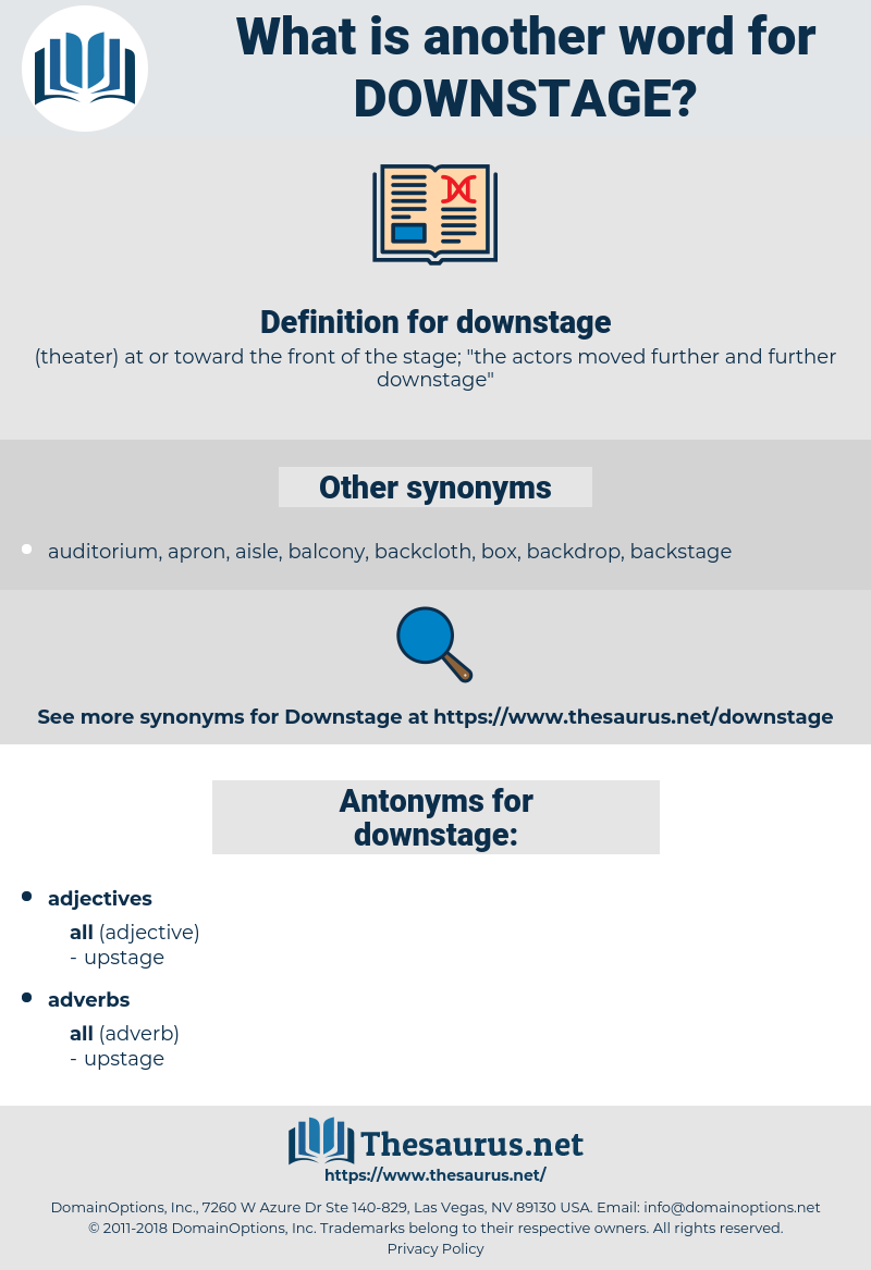 downstage, synonym downstage, another word for downstage, words like downstage, thesaurus downstage