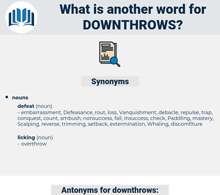 downthrows, synonym downthrows, another word for downthrows, words like downthrows, thesaurus downthrows