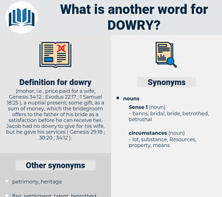 dowry, synonym dowry, another word for dowry, words like dowry, thesaurus dowry