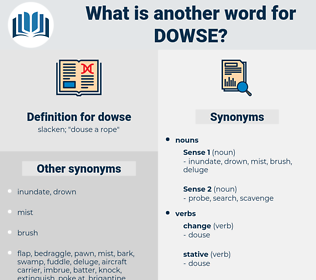 dowse, synonym dowse, another word for dowse, words like dowse, thesaurus dowse