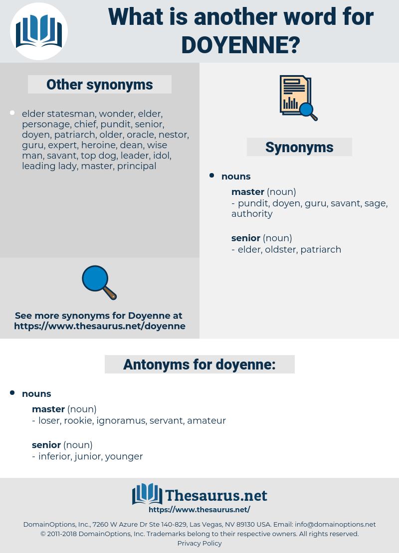 doyenne, synonym doyenne, another word for doyenne, words like doyenne, thesaurus doyenne