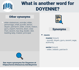 doyenne, synonym doyenne, another word for doyenne, words like doyenne, thesaurus doyenne