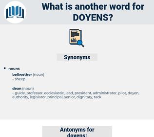 doyens, synonym doyens, another word for doyens, words like doyens, thesaurus doyens