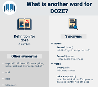 doze, synonym doze, another word for doze, words like doze, thesaurus doze