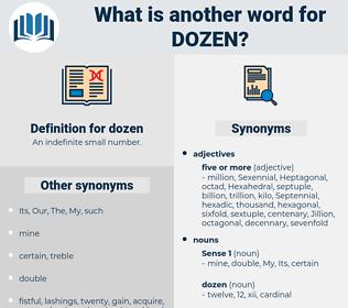 dozen, synonym dozen, another word for dozen, words like dozen, thesaurus dozen