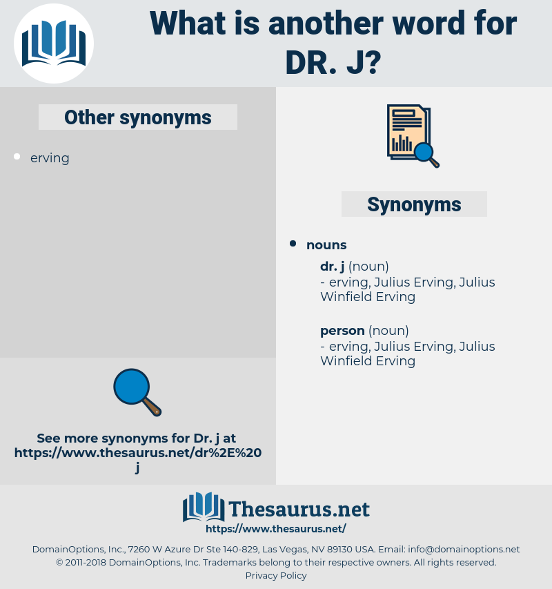 dr. j, synonym dr. j, another word for dr. j, words like dr. j, thesaurus dr. j
