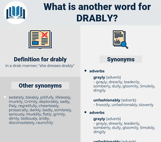 drably, synonym drably, another word for drably, words like drably, thesaurus drably