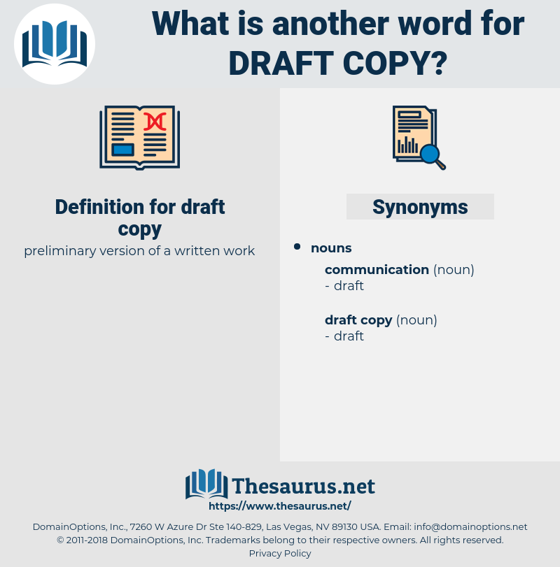 draft copy, synonym draft copy, another word for draft copy, words like draft copy, thesaurus draft copy