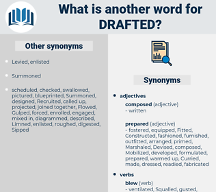 Drafted, synonym Drafted, another word for Drafted, words like Drafted, thesaurus Drafted
