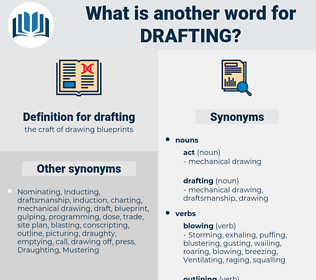 drafting, synonym drafting, another word for drafting, words like drafting, thesaurus drafting