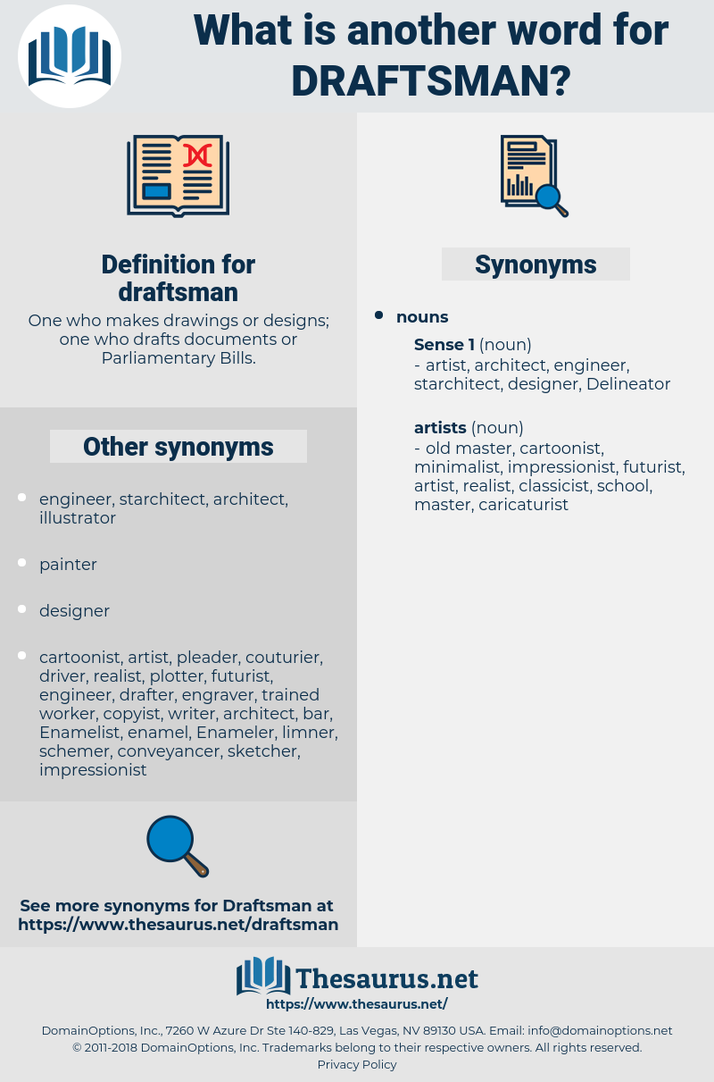 draftsman, synonym draftsman, another word for draftsman, words like draftsman, thesaurus draftsman
