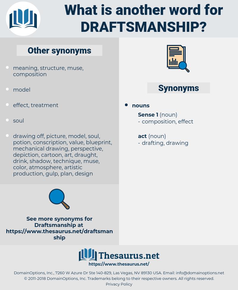 draftsmanship, synonym draftsmanship, another word for draftsmanship, words like draftsmanship, thesaurus draftsmanship