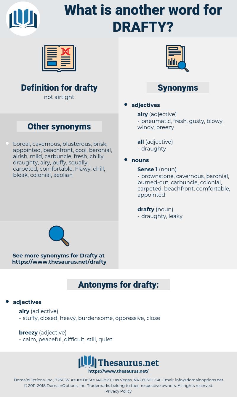 drafty, synonym drafty, another word for drafty, words like drafty, thesaurus drafty