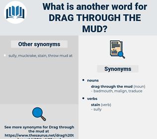 drag through the mud, synonym drag through the mud, another word for drag through the mud, words like drag through the mud, thesaurus drag through the mud