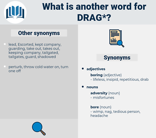 drag, synonym drag, another word for drag, words like drag, thesaurus drag
