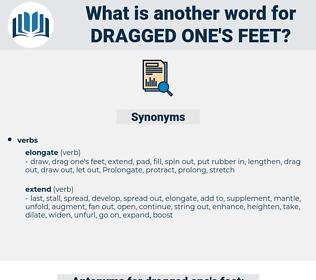 dragged one's feet, synonym dragged one's feet, another word for dragged one's feet, words like dragged one's feet, thesaurus dragged one's feet