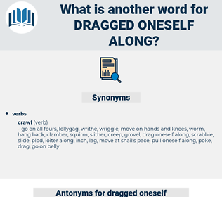 dragged oneself along, synonym dragged oneself along, another word for dragged oneself along, words like dragged oneself along, thesaurus dragged oneself along