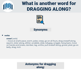 dragging along, synonym dragging along, another word for dragging along, words like dragging along, thesaurus dragging along