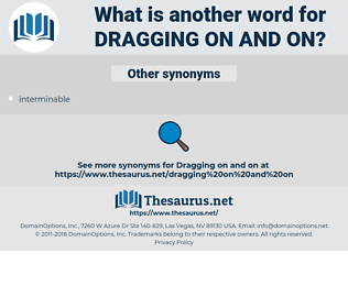 dragging on and on, synonym dragging on and on, another word for dragging on and on, words like dragging on and on, thesaurus dragging on and on