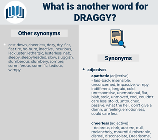 draggy, synonym draggy, another word for draggy, words like draggy, thesaurus draggy