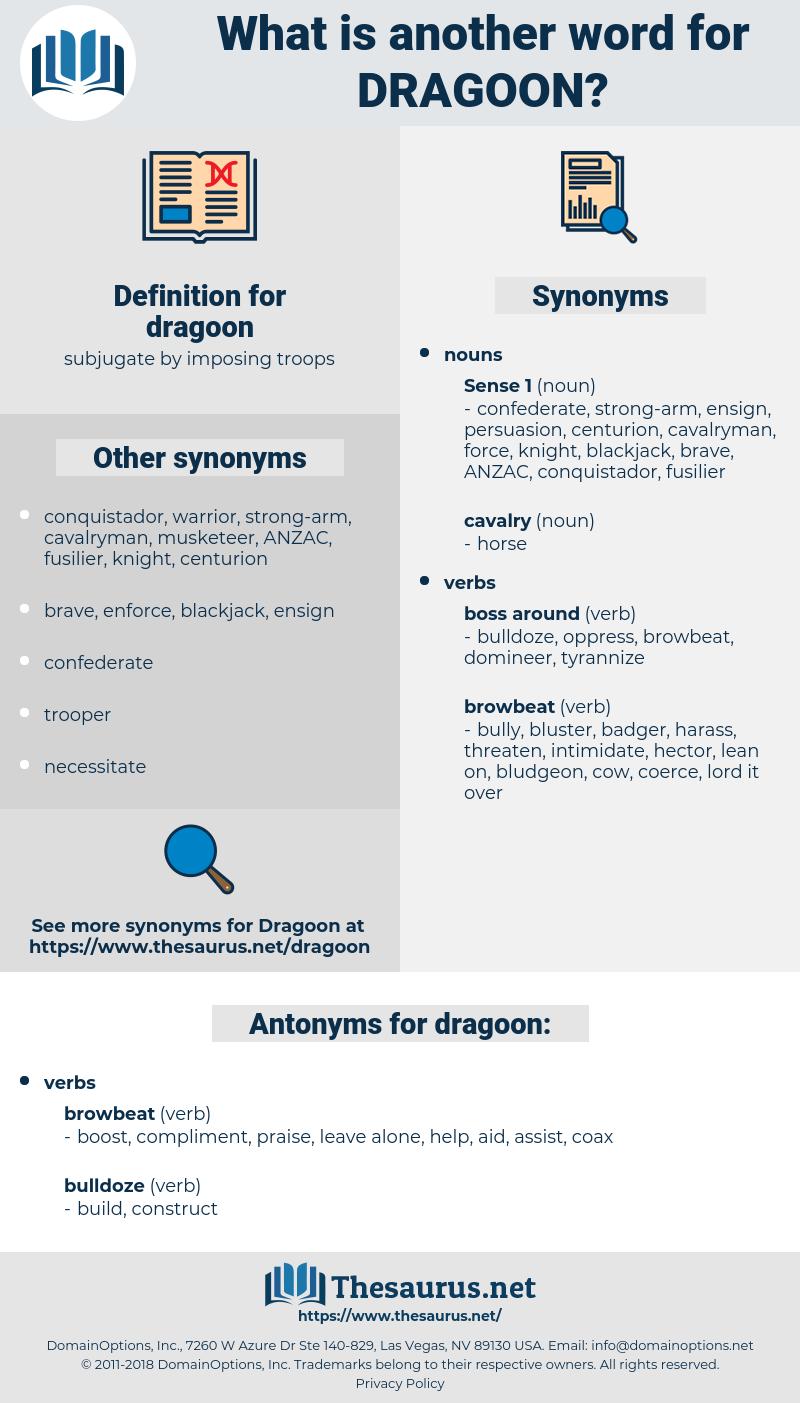 dragoon, synonym dragoon, another word for dragoon, words like dragoon, thesaurus dragoon