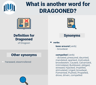 Dragooned, synonym Dragooned, another word for Dragooned, words like Dragooned, thesaurus Dragooned