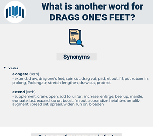 drags one's feet, synonym drags one's feet, another word for drags one's feet, words like drags one's feet, thesaurus drags one's feet