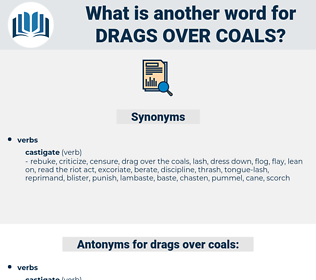 drags over coals, synonym drags over coals, another word for drags over coals, words like drags over coals, thesaurus drags over coals