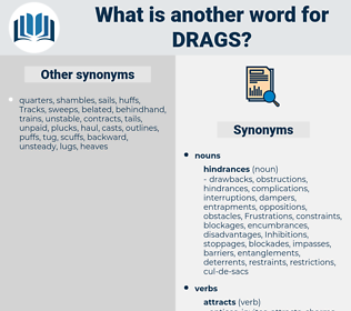 drags, synonym drags, another word for drags, words like drags, thesaurus drags