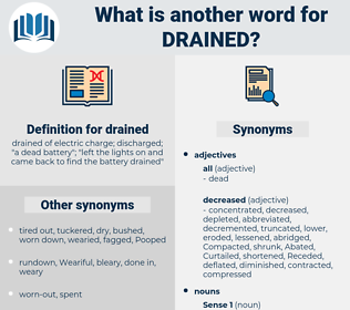 drained, synonym drained, another word for drained, words like drained, thesaurus drained
