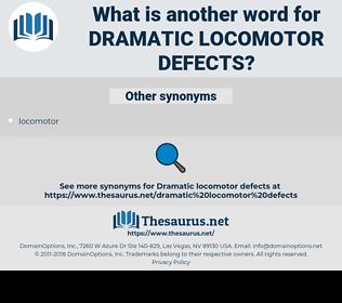 dramatic locomotor defects, synonym dramatic locomotor defects, another word for dramatic locomotor defects, words like dramatic locomotor defects, thesaurus dramatic locomotor defects